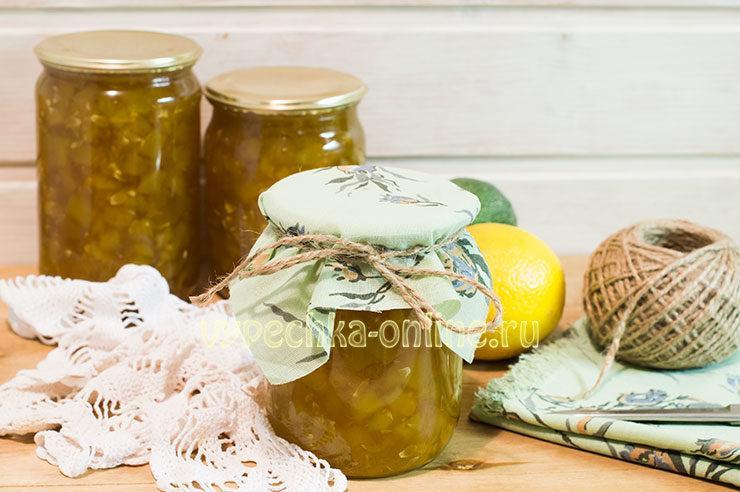 Как сварить варенье из кабачков с лимоном