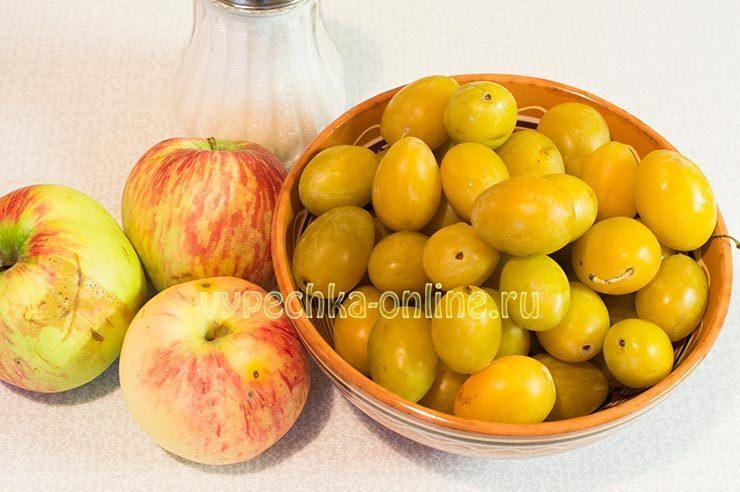 пюре из слив и яблок на зиму простой рецепт