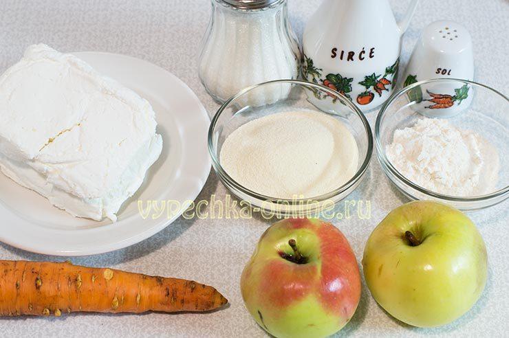 сырники с яблоками на сковороде