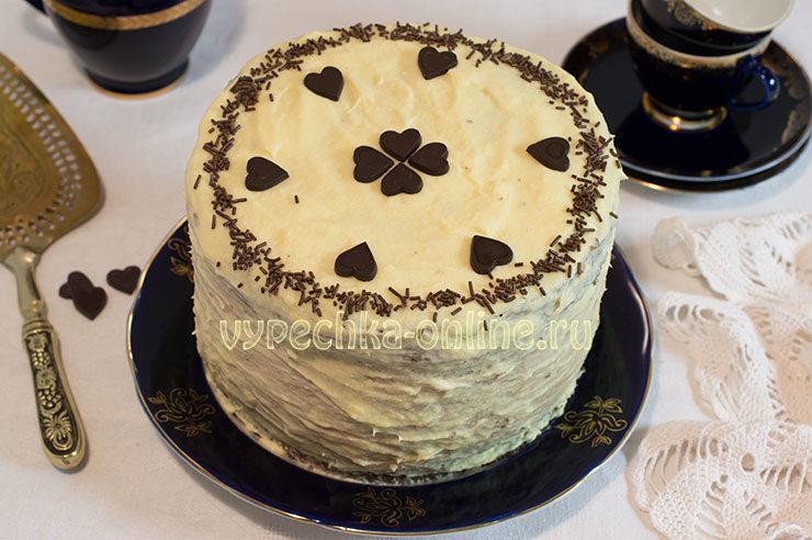 Красивый бисквитный торт
