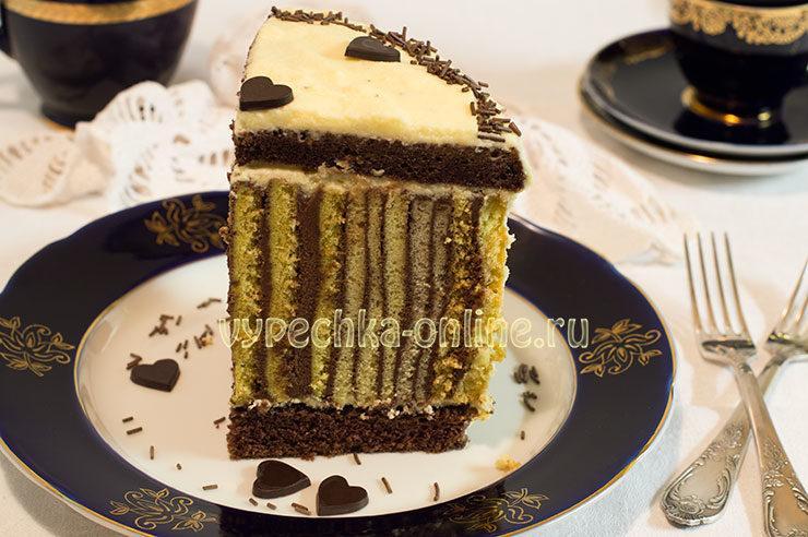 Торт в полоску