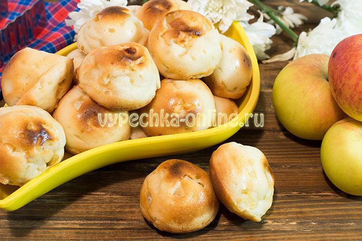 Творожные кексы с яблоками