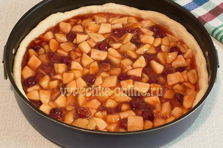 Пирог с калиной рецепт с фото пошагово в духовке