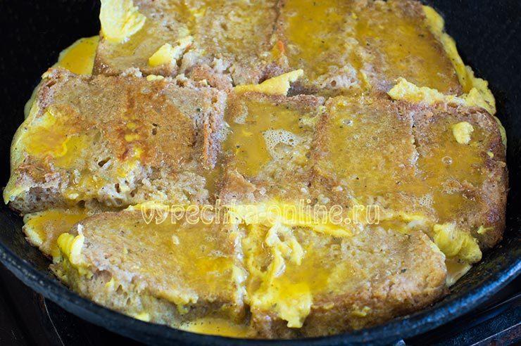 горячие бутерброды с яйцами