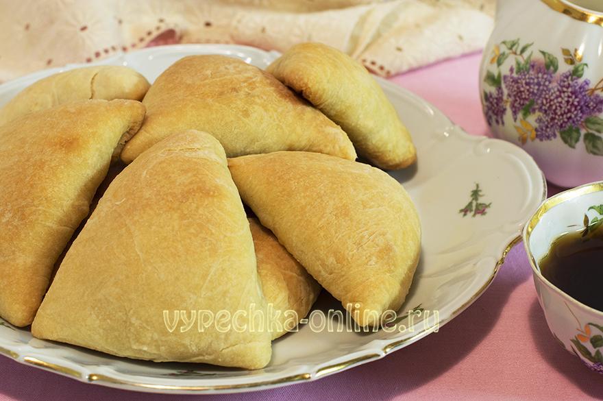 Пирожки из творожного теста в духовке