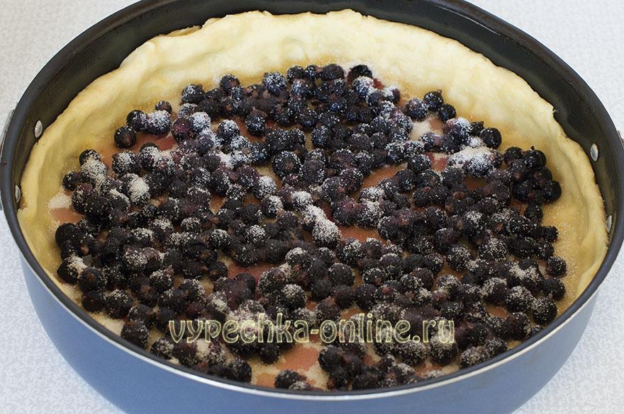 Цветаевский пирог с ягодами