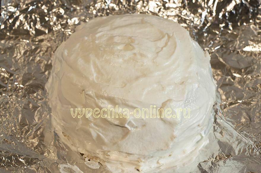 Торт Аляска с мороженым