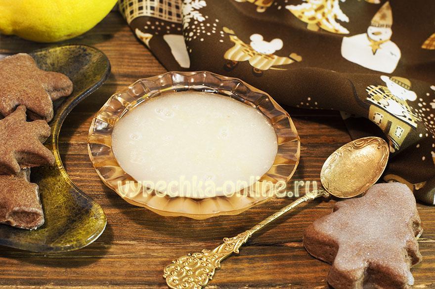 Глазурь из сахарной пудры и лимонного сока