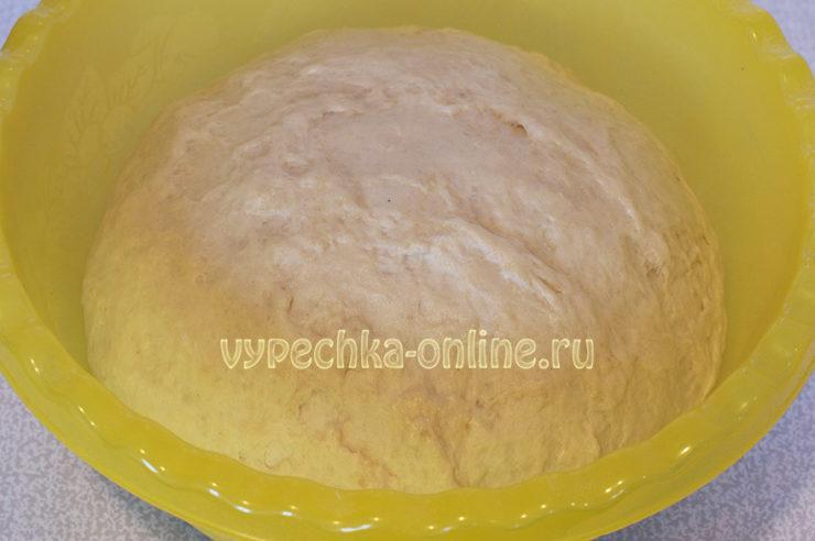 Дрожжевое тесто на рассоле постное