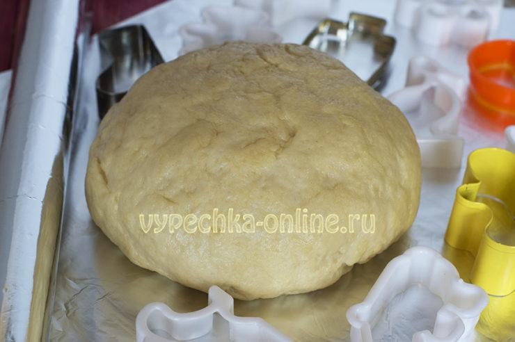 Постное песочное тесто для печенья