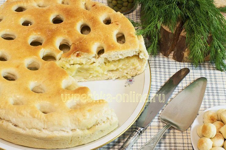 Постный картофельный пирог