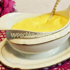 Заварной крем на молоке с яйцами