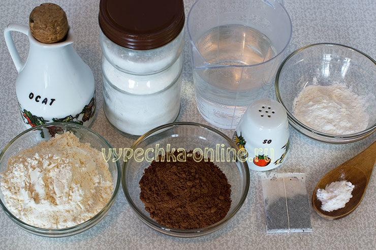 Tresnutoe shokoladnoe pechen'ye Ingredienty