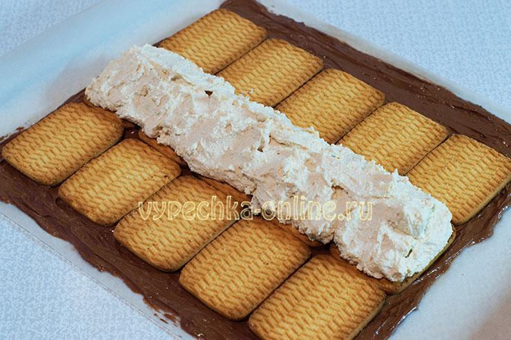 Творожный домик из печенья без выпечки