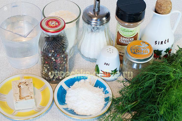 Как сделать плюшку сердечком Ингредиенты