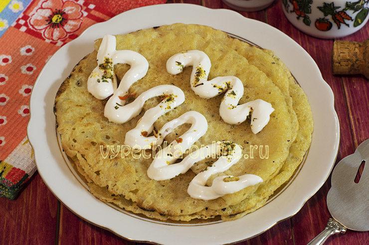 Кукурузные блины без яиц