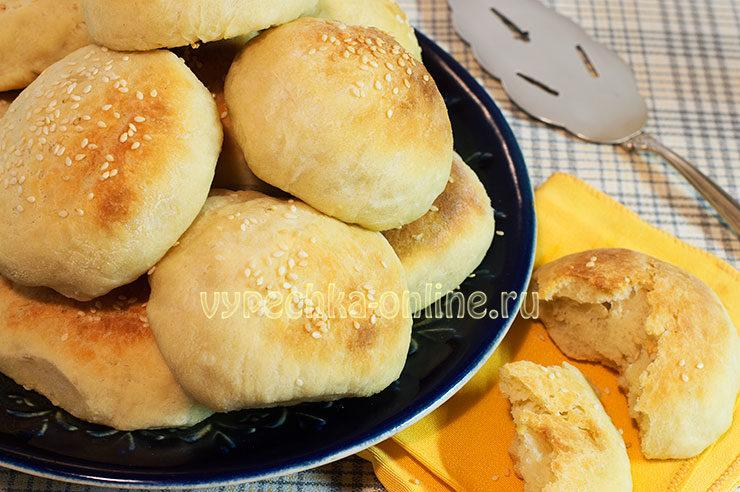 Постные булочки в духовке