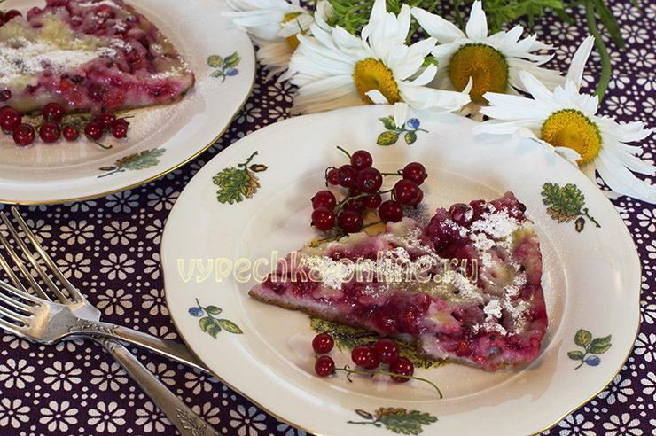 Сладкий пирог на сковороде