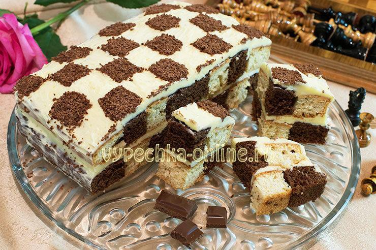 Как сделать шахматный торт