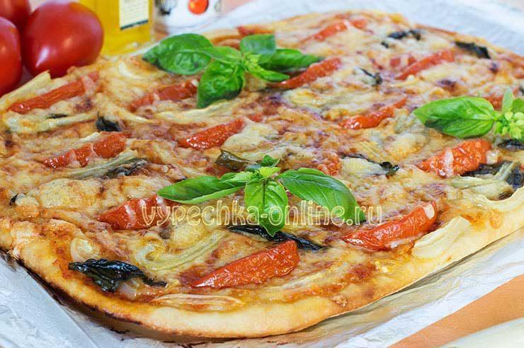 Начинка для пиццы с сыром и помидорами