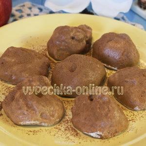 Зефир из яблок с желатином и какао