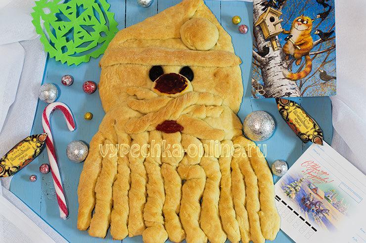 Дед Мороз из теста съедобный