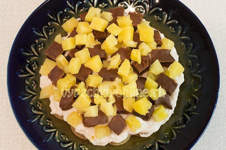 Торт Панчо с ананасом постный