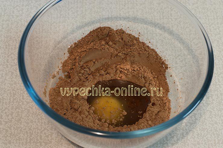 Какао, сахарная пудра, яйцо