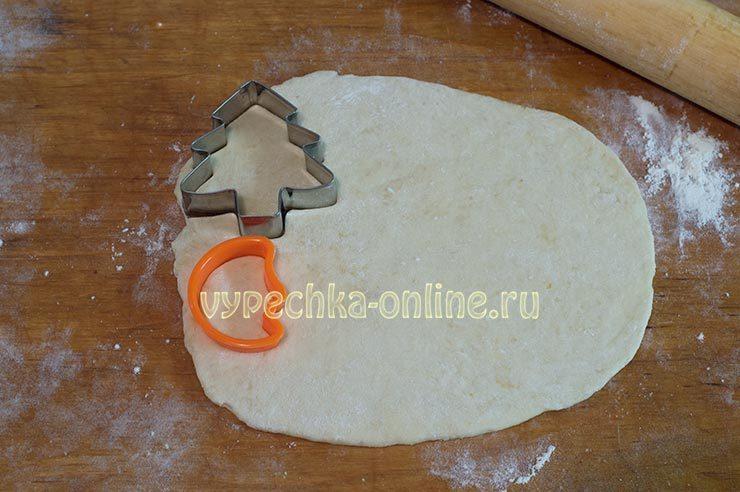 Украшения из теста для пирога