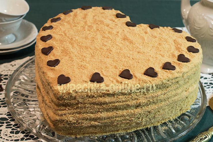 Как испечь торт сердце