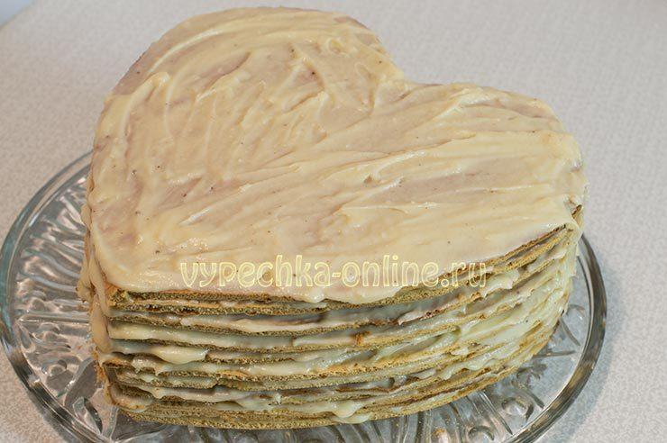 Торт в виде сердца пошаговый рецепт с фото