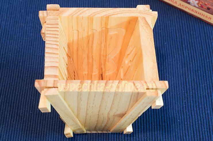 Деревянная форма для пасхи
