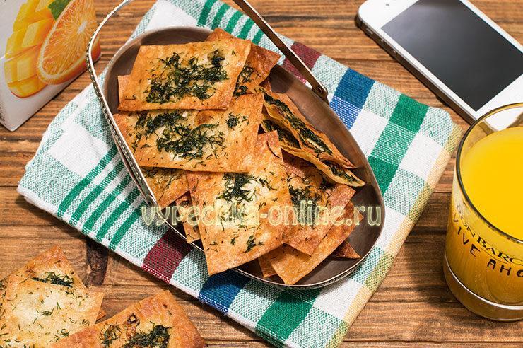 Домашние чипсы из лаваша в духовке