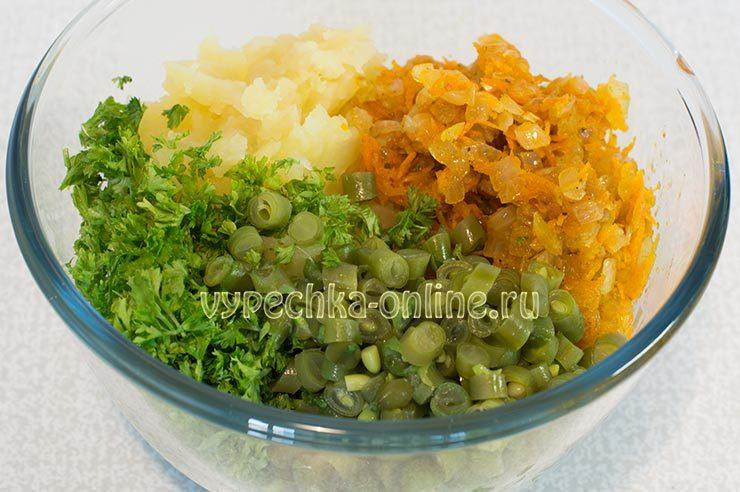 Овощная начинка для лаваша