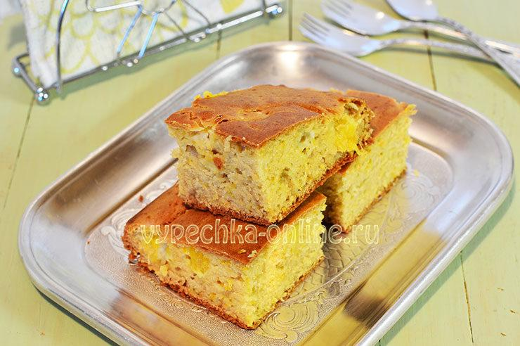 апельсиновый пирог рецепт с фото пошагово в духовке простой
