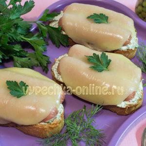 горячие бутерброды в духовке рецепты с фото простые и вкусные