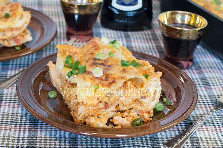Лазанья с куриным фаршем рецепт с фото