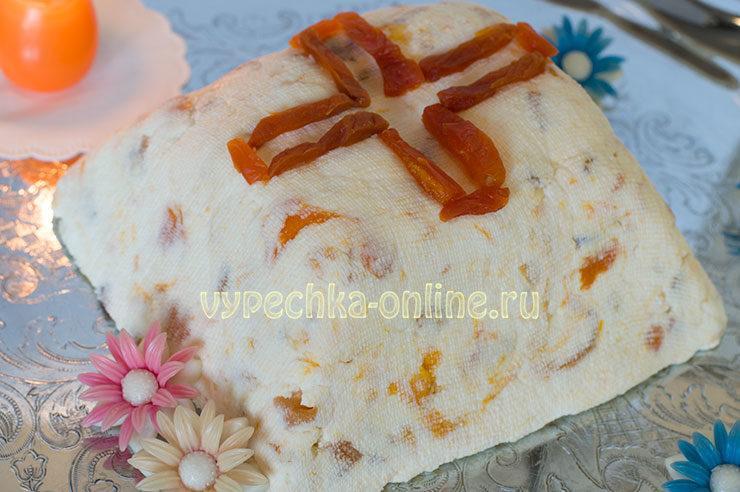 Пасха творожная рецепт без яиц со сгущенкой