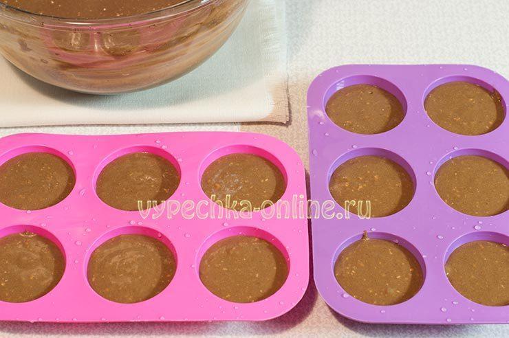 Shokoladnye keksy v silikonovykh formochkakh Shag 7