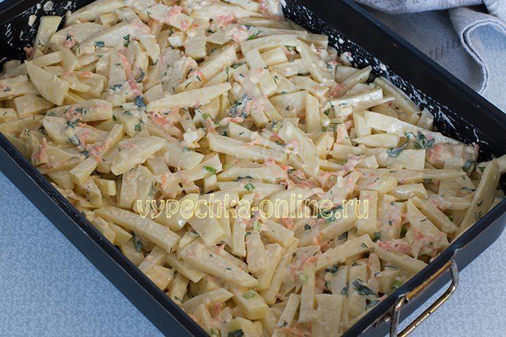 рецепт морского окуня в духовке с картошкой