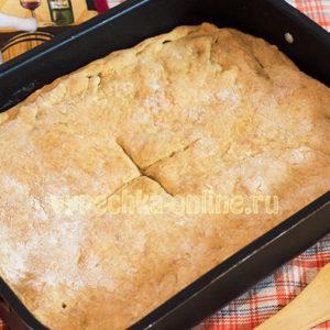 Пирог с курицей быстро