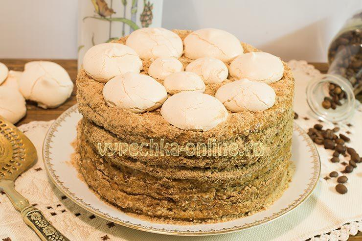 торт на сгущенке на сковороде рецепт с фото