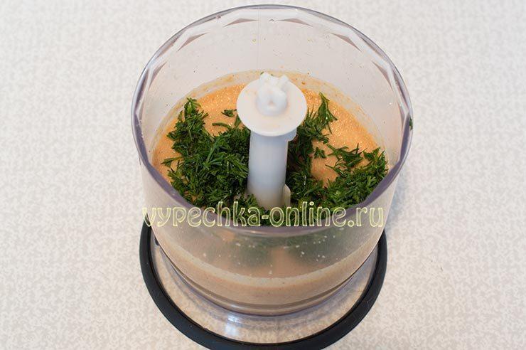 ахарисовая паста с зеленью