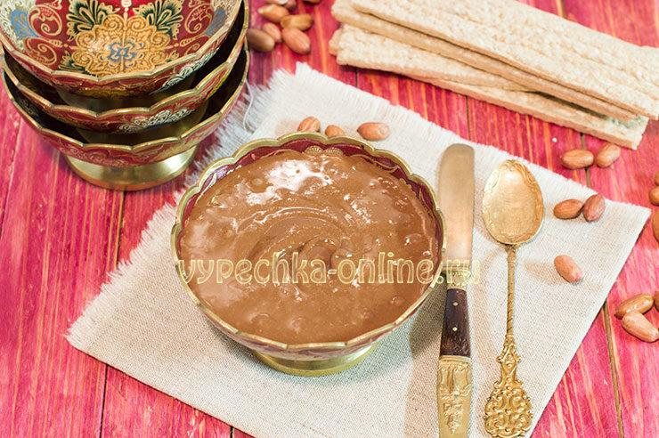 шоколадная арахисовая паста рецепт
