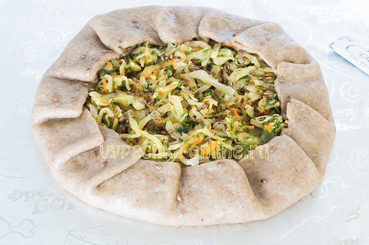 постная галета рецепт с капустой
