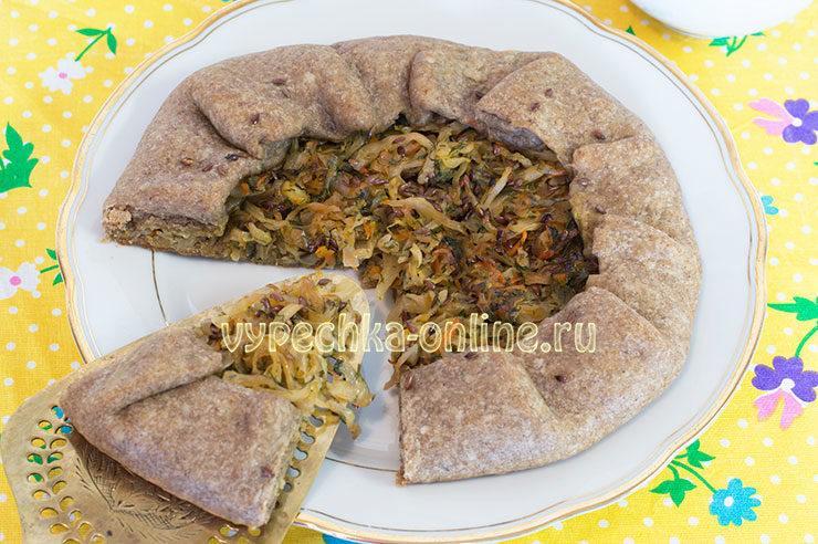 постная галета рецепт с овощами