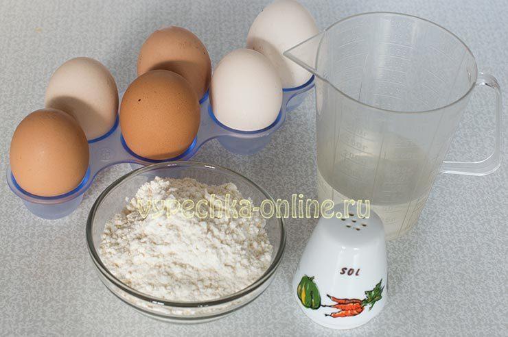 как сделать яичную лапшу
