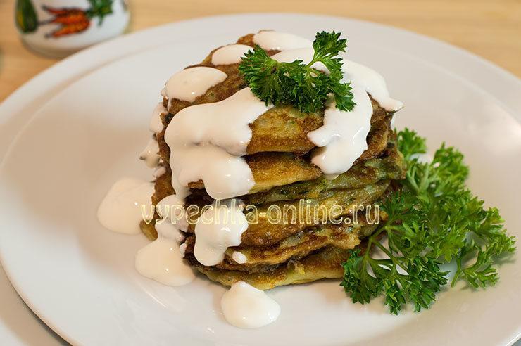 кабачковые оладьи рецепт с фото пошагово на сковороде