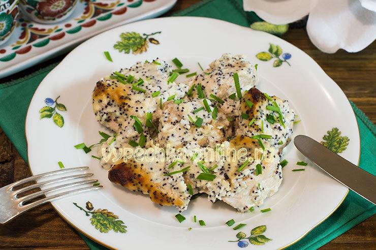Куриное филе в сметане в духовке