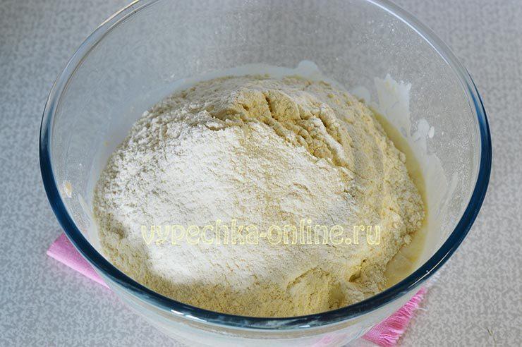 печенье на кефире на скорую руку в духовке